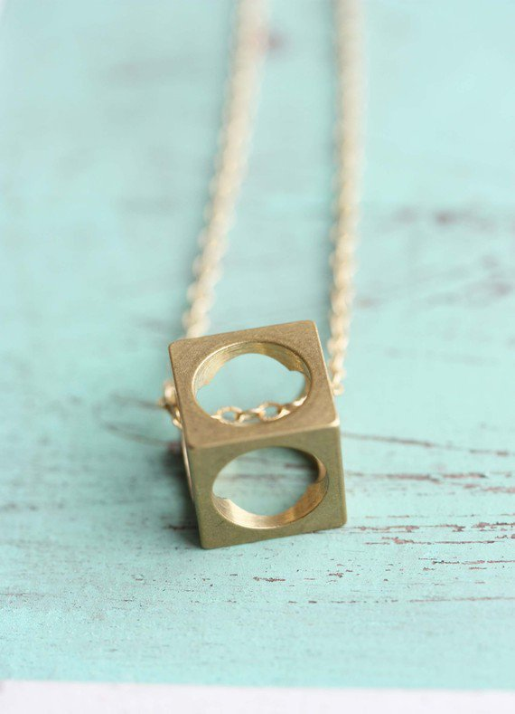 Boxed Cube Necklace Necklace