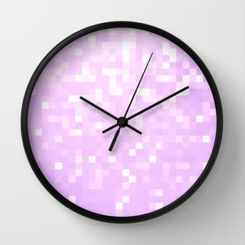 Lavender Pixel Sparkle Wall Clock by 2sweet4words Designs | Society6