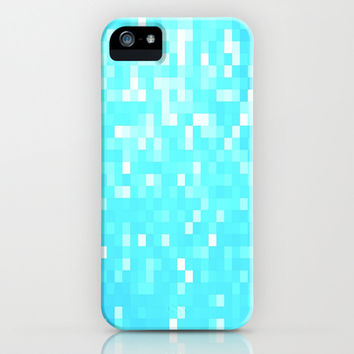 Turquoise Pixel Sparkle iPhone & iPod Case by 2sweet4words Designs