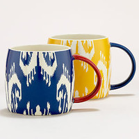 Ikat Mugs, Set of 2