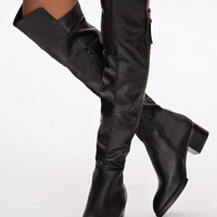 Knee High Zip Boot - Nly Shoes - Black - Everyday Shoes - Shoes - Women - Nelly.com
