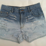 Ombred Distressed Denim shorts (Size 7)