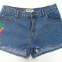 High Waist Trible-esque Denim Shorts (Size 7)