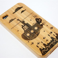 Bamboo - Wood iPhone Case - iPhone 4 wood case - iphone 4s case - cases for iphone 4 - wooden iphone 4 case - iphone cover