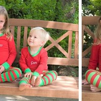 Cheerful Kid's Personalized Holiday Loungewear!