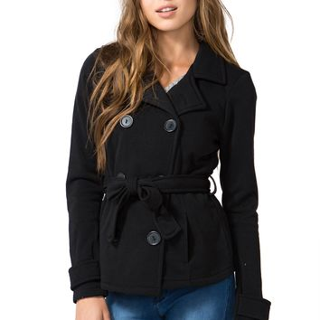 Gwen Tie Waist Fleece Coat