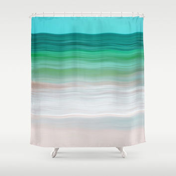 SEA-RENITY Shower Curtain by Catspaws | Society6