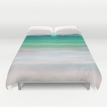 SEA-RENITY Duvet Cover by Catspaws | Society6