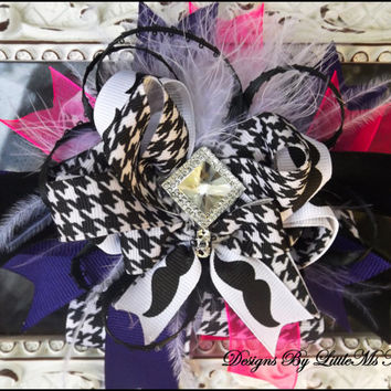 """Over The Top Bow For Little Girls, Baby Girls, Toddler Girls, """"I'm So Over The Top"""" Infant Photo Prop"""