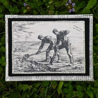 The Diggers - Vintage Illustration, Up-cycled Wall Art