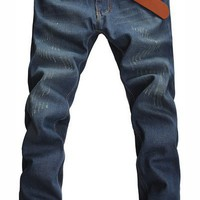 Men Fashion Straigt Slim Angery Bird Printing Blue Jean/Pants with Light Yellow Polish S/M/L/XL/XXL/3XL/4XL@X304NH6S0N074