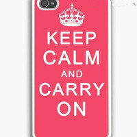 Keep Calm and Carry On iPhone 4 Case, iPhone 4s Case, iPhone 4 Hard Case, iPhone Case-graphic Iphone case
