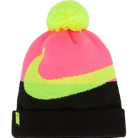 Nike Girls' Swoosh Pom Beanie Hat | DICK'S Sporting Goods