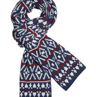 Logan Square Knit - Navy/Red (Scarf) | Ties, Bow Ties, and Pocket Squares | The Tie Bar