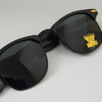 Vintage Deadstock CLUBMASTER Sunglasses MATTE BLACK