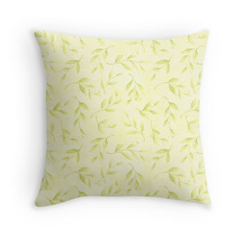 Abstract Floral Pastel Pattern Throw Pillow