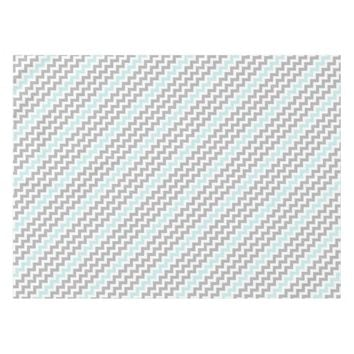 Gray Aqua Chevron Table Cloth