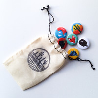 BUTTON PACK 5 - GEOMETRIC WEST