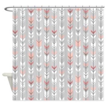 Feathered Flights On Grey Shower Curtain> Shower Curtains> SpiceTree Gift Shop