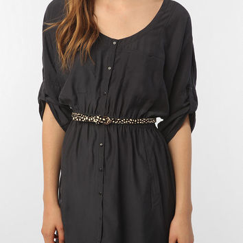 Silence & Noise Silky Shirtdress