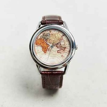 Cheapo Old World Leather Watch - Urban Outfitters