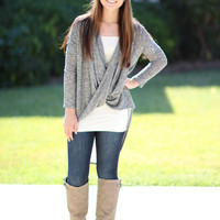 To Be or Knot To Be Tunic - Grey Shorter Length