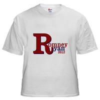 Romney-Ryan 2012 White T-Shirt