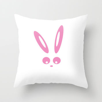 Bunny Roger Throw Pillow by Steffi ~ findsFUNDSTUECKE