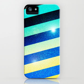 Striped Colorful Glitter iPhone & iPod Case by Nicklas Gustafsson
