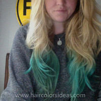 Laurel's Dip Dyed Hair