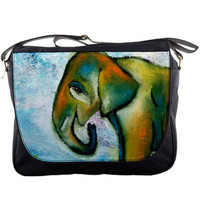 Elephant Messenger Bag, Back to school - Terry