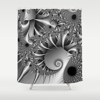 Silver Thorn Shower Curtain by Christy Leigh | Society6