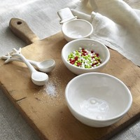 SNOWMAN PREP BOWLS WITH SPOONS