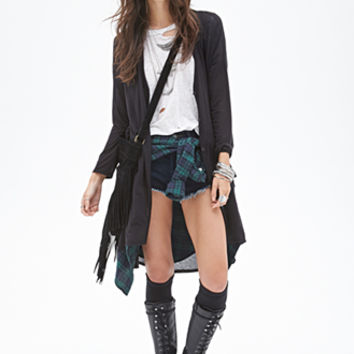 FOREVER 21 Button-Down Maxi Cardigan