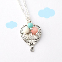 Hot Air Balloon Necklace - Love Is .. on Luulla