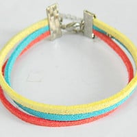 Adjustable simple Colorful Bracelet colorful life