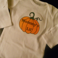 Mommy's Little Pumpkin Halloween Onesuit. Long Sleeved. Can Be Customized By Size.