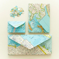 Atlas Value Pack  Upcycled Envelopes and Confetti by LeaSeguin