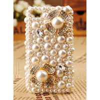 Apple iPod Touch 4G Pearl Crystal Back Case Cover Gift for Her Free Shipping Worldwide