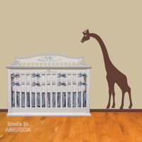 Peeking Giraffe Vinyl Wall Decal