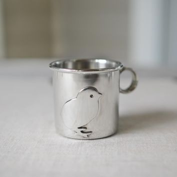 Beehive Kitchen :: Pewter Chick Baby Cup