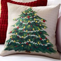 PAINTED TREE PILLOW COVER