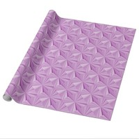 Pink Diamonds Glossy Wrapping Paper by Janz