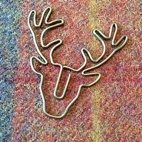 Stag Head Paper Clips, Set Of Three