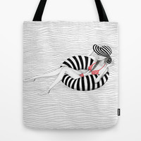 Relaxing Tote Bag by Lina Che