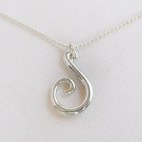 New Life Sterling Pendant with silver ball chain