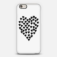 Hearts Heart Black on White iPhone 6 case by Project M   Casetify