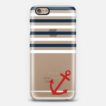 Classic Nautical Transparent iPhone 6 case by Organic Saturation | Casetify