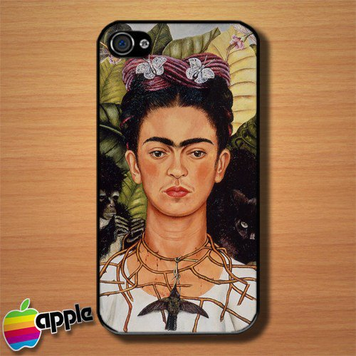 Frida Kahlo Self Portrait Custom iPhone 4 or 4S Case Cover