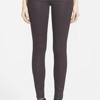 Genetic 'Stem' Mid Rise Skinny Jeans (Black Licorice)